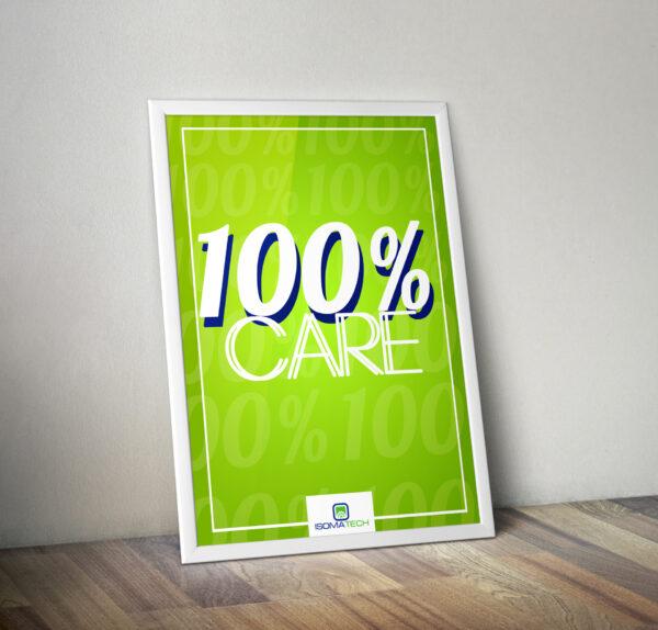 Плакат 100% CARE / 100% ГРИЖА