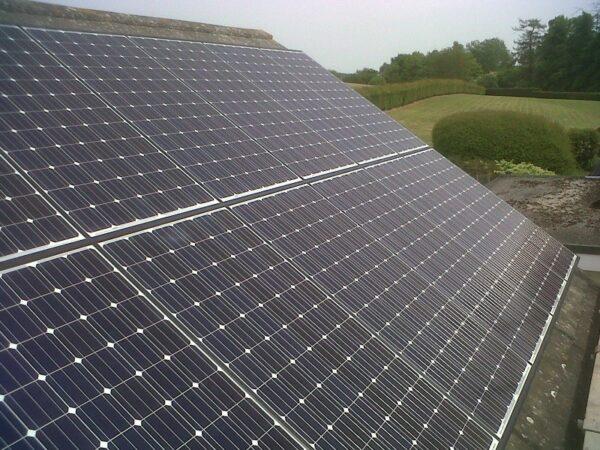 Solar slope roof
