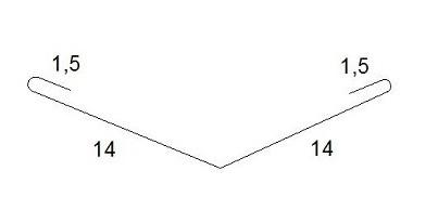 Профил от ламарина с полиестерно покритие
