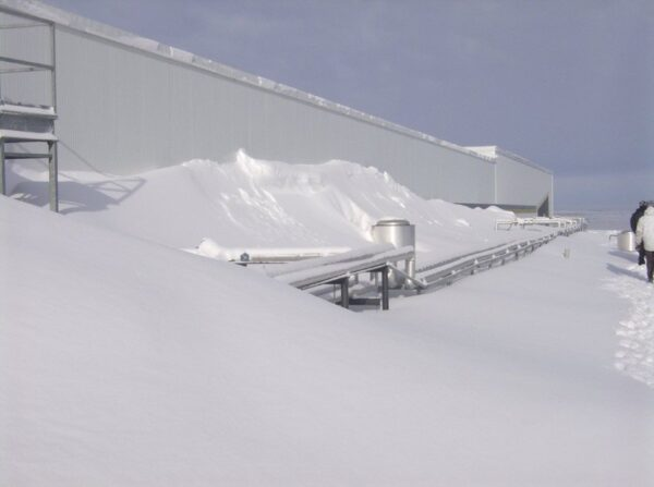 Roof accumulation and retention of snow